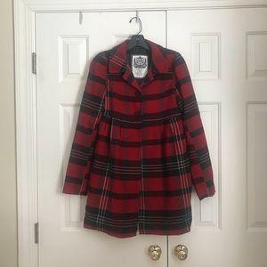 Plaid Dress Coat